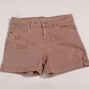 Vanilla Star Mid Rise MIDI distressed shorts